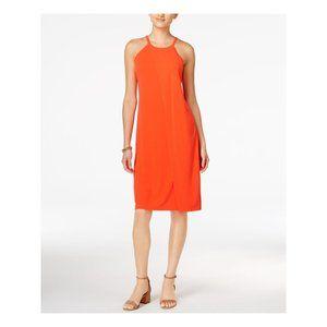 BAR III Orange Halter Sheath Dress Size Large